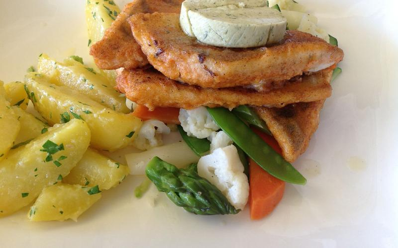 Die Küche Frühstücks- und Mittagsbuffet im Restaurat Fidi